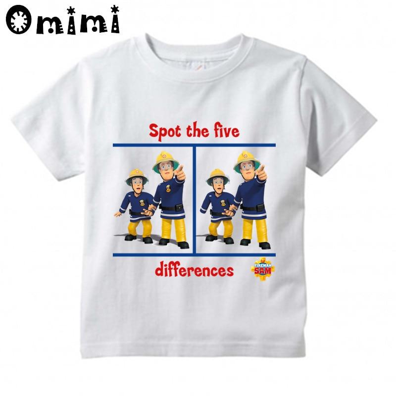 4290e23c8 Kids Sam Fireman Firefighter Design T Shirt Boys/Girls Great Kawaii Short  Sleeve Tops Children's Funny T Shirt,HKP3062-in T-Shirts from Mother & Kids  on ...