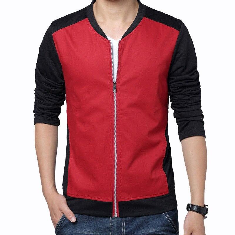 New Red Jacket Men 2015 Fashion Design Mens Slim Fit