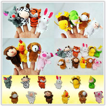 12 Pcs Children Gift Tell Story Props Children Furniture Sets Christmas Baby Finger Puppets Zodiac Animals Kids Toys Plush Toy(China)