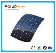 100w semi flexible sunpower solar panel