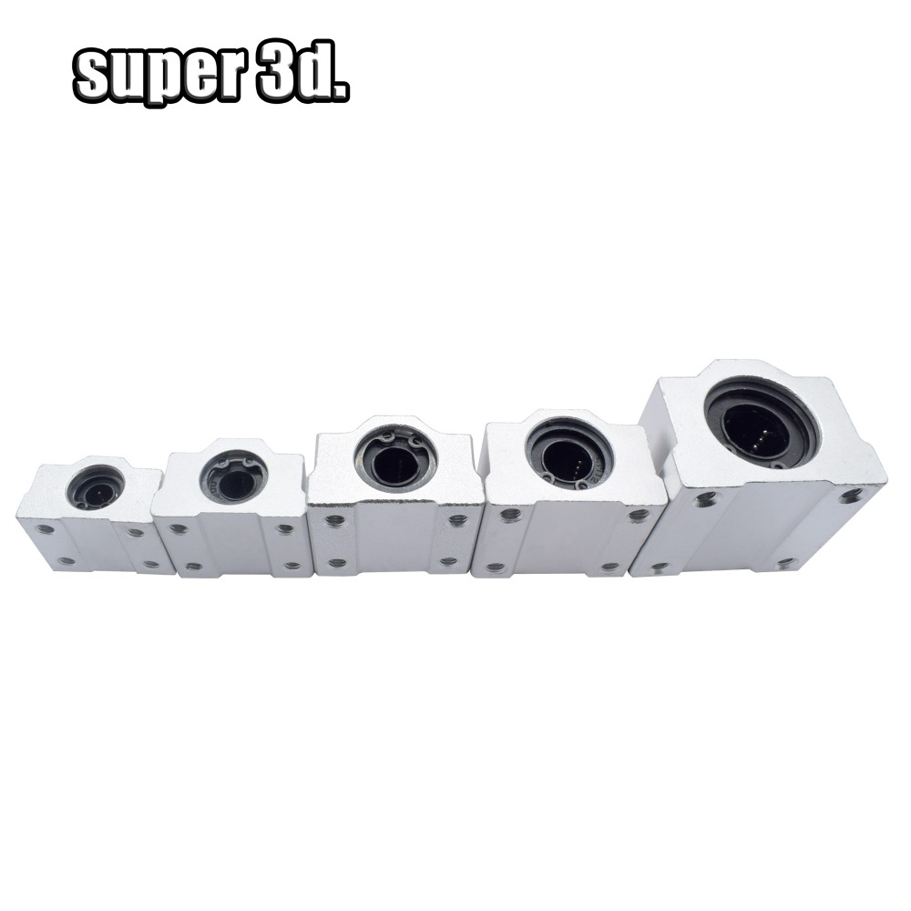 4 Pcs SC6UU Linear Motion Ball Bearings 3D Printer Prusa Mendel Cnc Machine Slide Unit Bushing Linear Roller