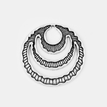 6pcs Antique Silver Hollow Open Round Circle Charms Pendant For Necklace Earring Jewelry Making Accessories Findings 59*59mm