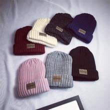 2018 New Winter Beanie Warm women new Unisex Turban Hats Knitted Snow Ski Knit Hat Knitting Crochet Beanies Cap accessory unisex women warm winter baggy beanie knit crochet oversized hats slouch ski cap