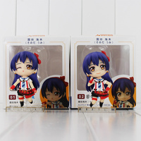 2Pcs Lot Japanese Anime Kawaii Love Live Sonoda Umi Q Version PVC Action Figures Collection Model