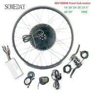 Barato Algún día Kit de conversión de bicicleta eléctrica 20 28 700C 48V1000W EBIKE rueda del Motor