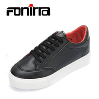 FONIRRA 2017 Spring Autumn New Arrival Women S Lace Up Black Sewing Basic Skate Shoes Women