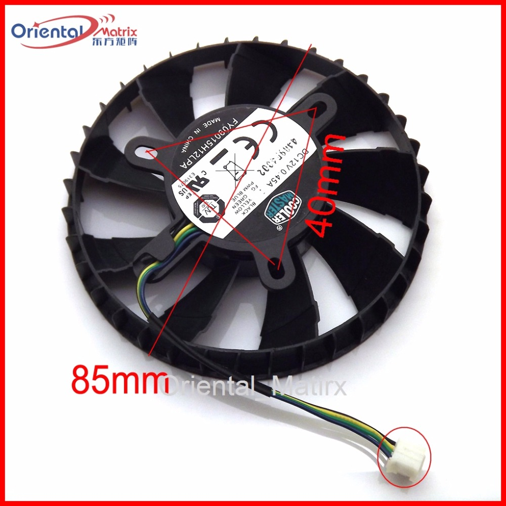 Free Shipping FY09015H12LPA DC12V 0.45A VGA Fan For MSI N760 2GD5/OC ITX R9 270X GAMING 2G ITX Graphics Card Cooler Fan free shipping 2pcs lot pld08010s12hh dc 12v 0 35a 75mm dual fans replacement video card fan msi twin frozr iii 4pin