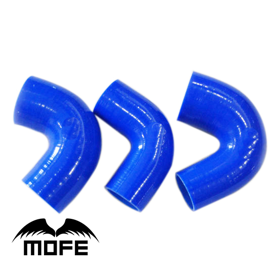 MOFE Original Logo 3PCS Silicone Turbo Hose Kit for Saab 9000 1988 ~ 2000 Blue mofe original logo 8pcs silicone radiator hose for saab 9 5 1999 2001 black
