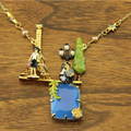 Французский ле Nereides влюбленные в париже люкс ожерелье для женщин милая камень многослойные ожерелье ювелирного бренда