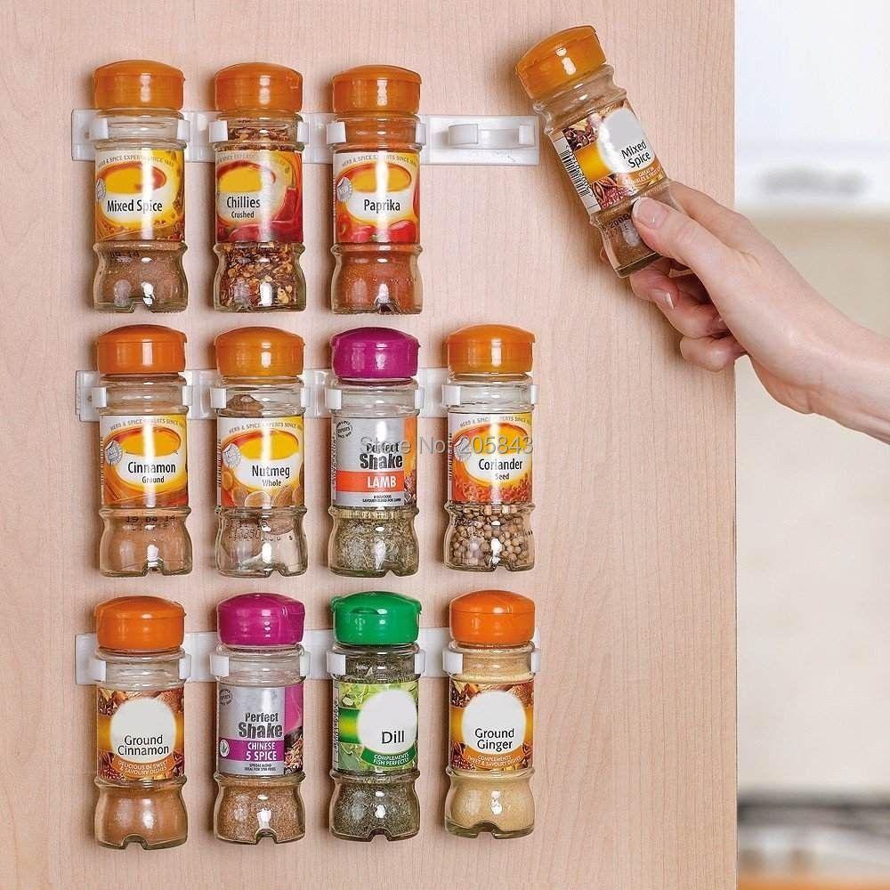 E Clip Set Organizes Up To 12 Jars Rack Storage Organizer