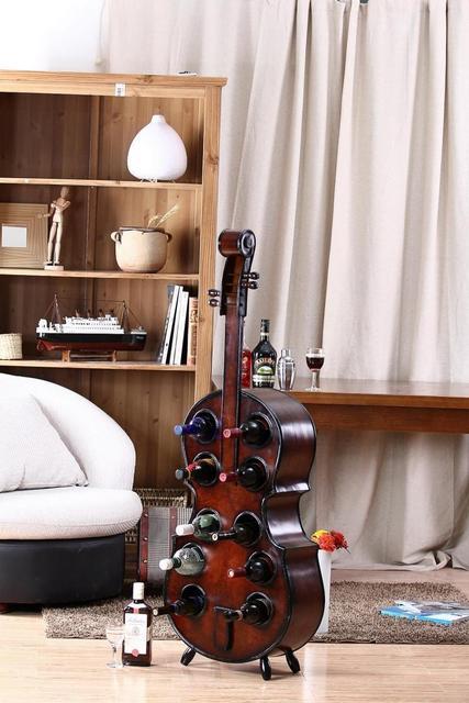Kreative Holz Kunst Cello Modell Wein und Getränke Display ständer ...