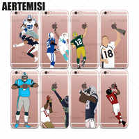 Agrotera Clear TPU Case Cover for iPhone 6 6s 7 8 Plus X XS XR 11 Pro Max Super Bowl American Football Players Cam Newton