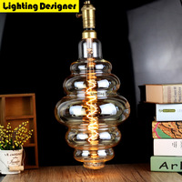Large Size Bulb Dimmable Edison Bulb E27 Soft LED Filament Vintage Led Lamp Big Hamburger Decor