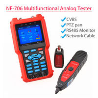 SEESII NF 706 3.5 LCD DC12V Multifunctional CVBS RJ45 BNC Metal Power Meter CCTV Cable Tester For Coaxial Line Breakpoint Test