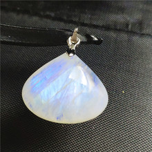 Genuine Natural Moonstone Necklace Pendant Water Drop Stone Women Men Party Love Gift 23x20x8mm 925 Silver Crystal AAAAA