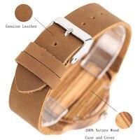 Bohemia reloj de madera pulso cuero 3