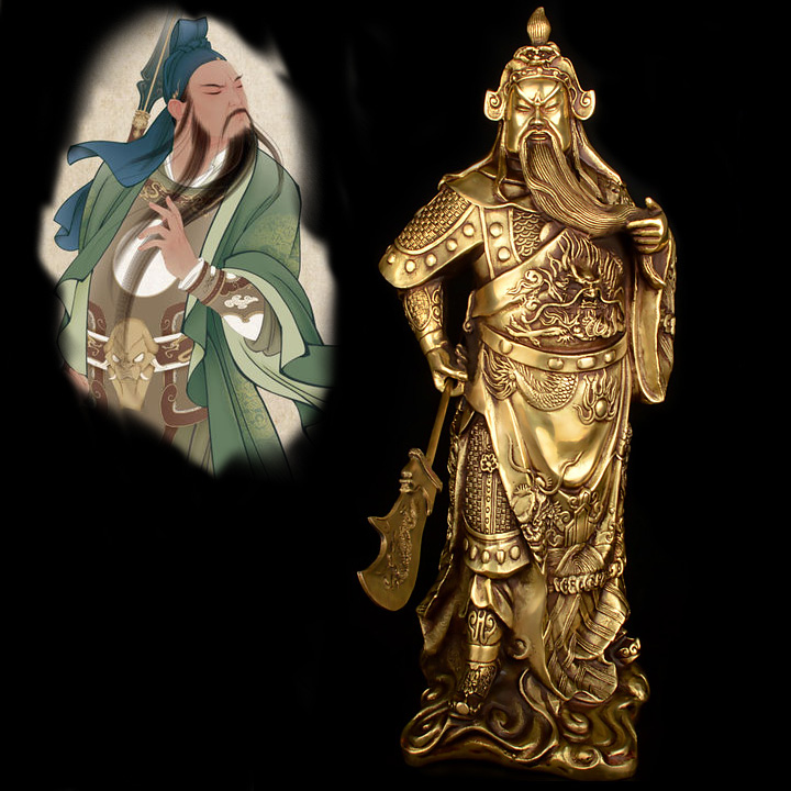 Efficacious OFFICE HOME  Protection # 37 CM TALL Guandi bronze statue Talisman # Money Drawing Martial god of wealth guan gongEfficacious OFFICE HOME  Protection # 37 CM TALL Guandi bronze statue Talisman # Money Drawing Martial god of wealth guan gong