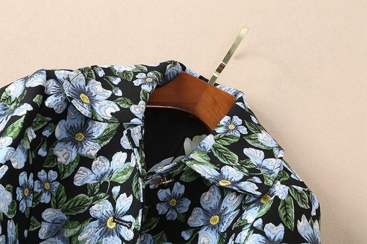 2018 Manteaux Automne Trench Coton Unique Impression Qualité À Femmes Hiver Long Poitrine Jacquard Vintage Manteau Haute Femme CqIt8