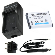 On sale Rechargeable Lithium Ion Battery + Charger for Nikon EN-EL 19, ENEL 19, MH-66 and Nikon COOL PIX Digital Camera  3.7v and 750mAh