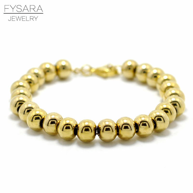 FYSARA New Mix/Gold Color Filled Stainless Steel Beads