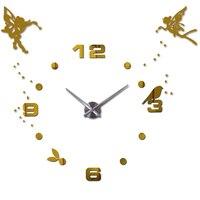 25''-40'' Large Oversized DIY 3D Wall Clock Angel Guardian Digital Big Mantel Clocks Anniversary Unique Wall Clocks