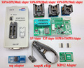 Original RT809F programador + 8 Adaptadores + IC clipe braçadeira + 1.8 V adaptador VGA LCD programador ICSP bordo 24 25 93 serise IC