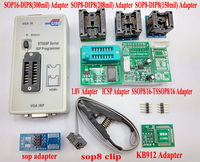 Original RT809F programmer + 8 Adapters + IC clip clamp +1.8V adapter VGA LCD programmer ICSP board 24 25 93 serise IC