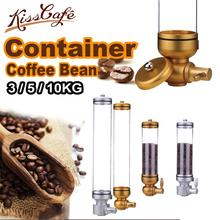 цена на 3/5/10KG Aluminium alloy & acrylic coffee bean dispenser coffee bean container stand coffee bean canister suspension sealed jar
