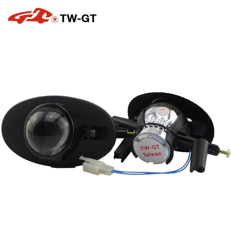 TW-GT 2.5 pouces hid bi xénon projecteur projecteur lentille feu de brouillard bricolage H11 pour HONDA ACCORD CIVIC CROSSTOUR FIT JAZZ SHUTTLE libéré
