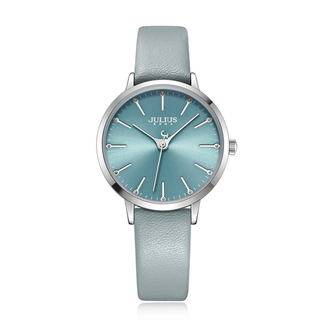 Classic Women's Watch With Leather Strap