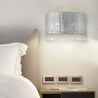 Nordic post modern metal crystal wall lamp bedroom TV wall living room hallway villa aisle designer wall lamp led lighting lamp