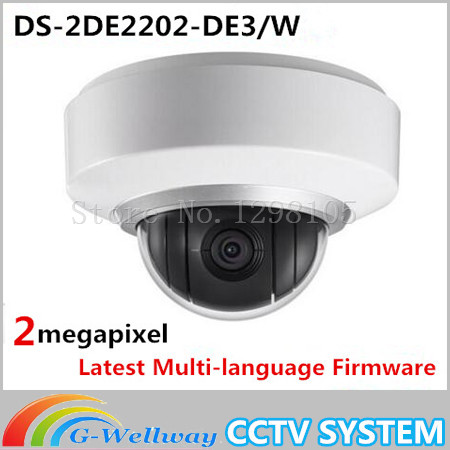 Multi-language Wifi Wireless Camera IP 1080P Auto PTZ Dome Camera DS-2DE2202-DE3/W 2X Zoom Built In Mic and Audio 3D Positioning multi language cctv ip camera ds 2de2202 de3 w 2mp auto ptz dome camera with wifi 2x zoom built in mic