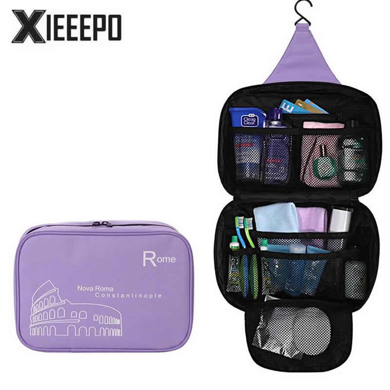 Fashion Travel Cosmetic Bag Women Men Hanging Makeup Case Zipper Trunk Make Up Bags Organizer Storage Pouch Toiletry Kit Bag