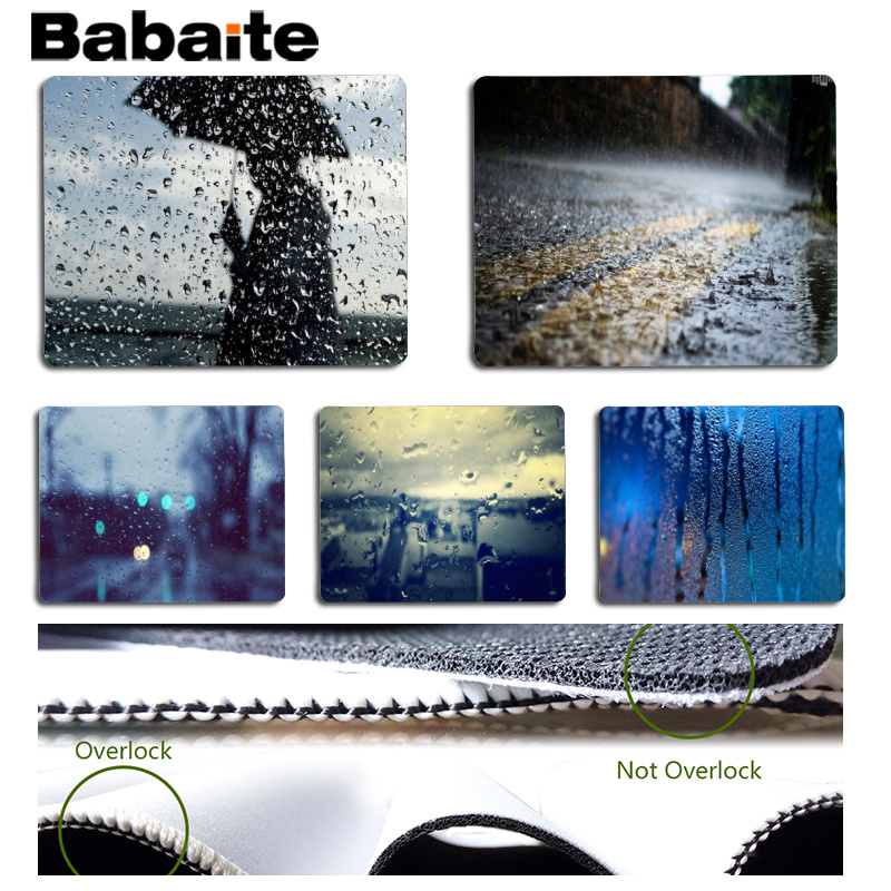 Babaite High Quality Rainy Day Large Mouse pad PC Computer mat Size for 180x220x2mm and 250x290x2mm Small Mousepad