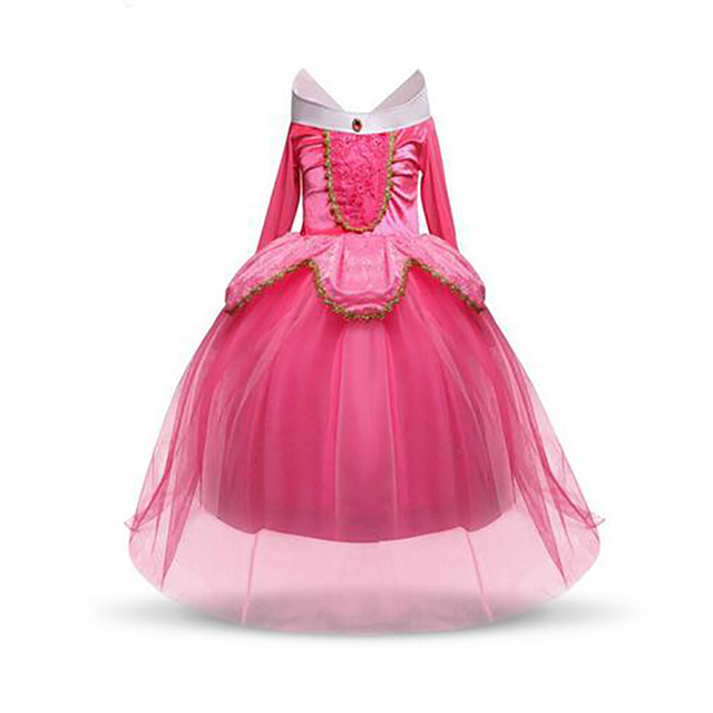fantasy kids sleeping beauty cosplay costume baby toddler girl princess dresses girls halloween costume kids party