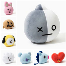 New Kpop Bangtan Boys BTS bt21 Vapp Pillow Plush Cushion Warm Back Pillow Cartoon Dolls TATA VAN COOKY CHIMMY SHOOKY(China)
