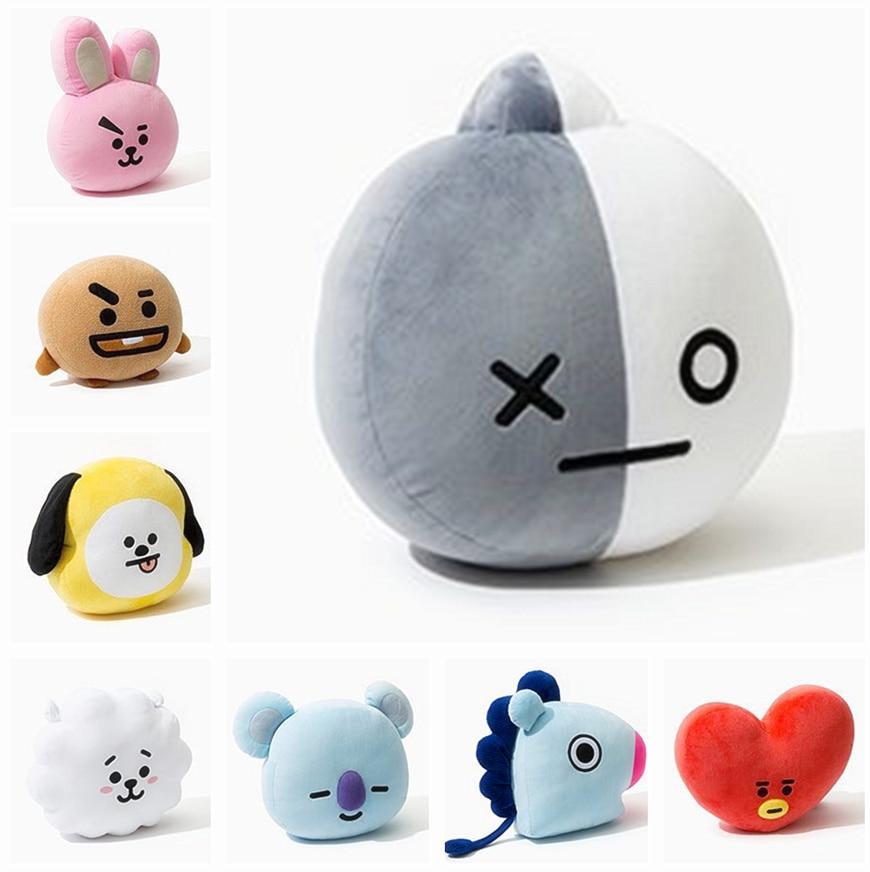 New Kpop Bangtan Boys BTS bt21 Vapp Pillow Plush Cushion Warm Back Pillow Cartoon Dolls TATA VAN COOKY CHIMMY SHOOKY