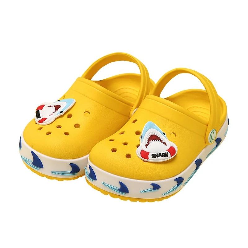 Girls Clogs Beach Sandals Kids Slipper Cartooon Shoes Boys Summer