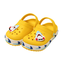 Cute Girls Shoes Summer Croc Slippers 2019 Baby Boys Kids Beach Shoes Cartoon Ch