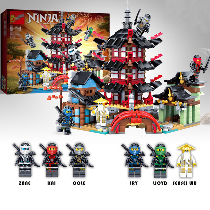 819pcs Diy Dinosaur Temple Of Airjitzu Ninjagoes Smaller Version Building Blocks Set Compatible With Legoingly Toys For Kids