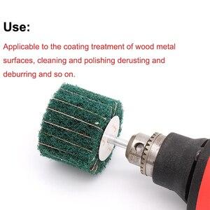 Image 5 - 6mm Brush Scouring Pad Abrasive Wheel Nylon Fiber Grinding Sanding Head Buffing Polishing Wheel Fiber Grinding Wheel for Dremel