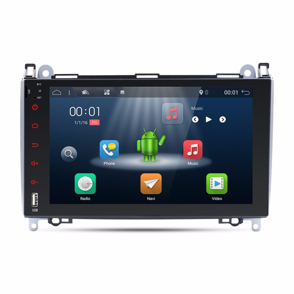 In Dash Head Unit Android 7.1 Car Radio 9 Car DVD Player For Mercedes/Benz/Sprinter/W169/Viano/Vito/B200 Wifi GPS Navigation