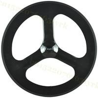 LightCarbon Three Spoke Carbon Wheel Carbon 3 Spokes Wheel Carbon Tri Spoke Bike Wheel Fixed Gear