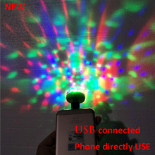 Lumiere RGB LED Music Stage Lights Sound USB Disco Club DJ Light Show Bulb Projector Crystal Magic Ball dj effect lighting