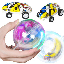 Mini High-Speed Stunt Car Decompression Toy 360 Rotating Laser Chariot  Racing Model Toys for Kids USB Charging