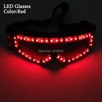Partito Glow Occhiali A LED Strip Occhiali LED neon tubo della fune Lampeggiante Prodotto Alimentato da Batteria 23A