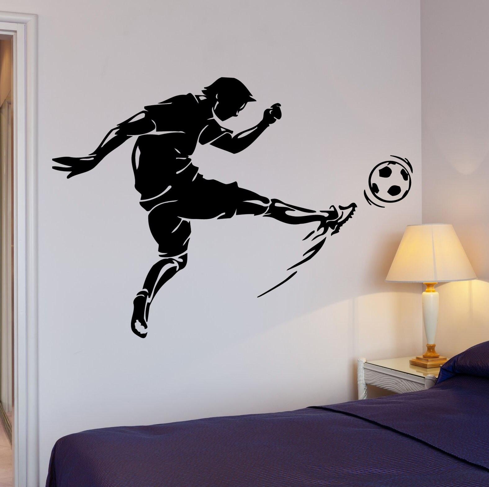 Künstlerisch Wandtattoo Fußball Dekoration Von Hwhd Jungen Zimmer Fußball Kick Fußball Ball