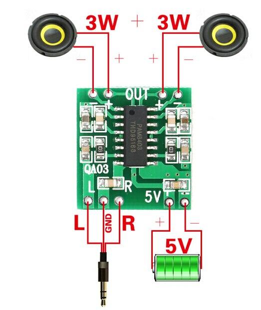 PAM8403 Âm Thanh 2x3 W Mini Kỹ Thuật Số Board Khuếch Đại Công Suất cho các Lớp Học D Stereo Khuếch Đại Âm Thanh Mô-đun 5 V điện