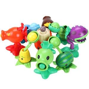 Image 2 - Bitkiler vs zombiler rakamlar yapı taşları PVZ aksiyon figürleri rol oynamak savaşları öğretici oyuncaklar için çocuk koleksiyonu yetişkinler için