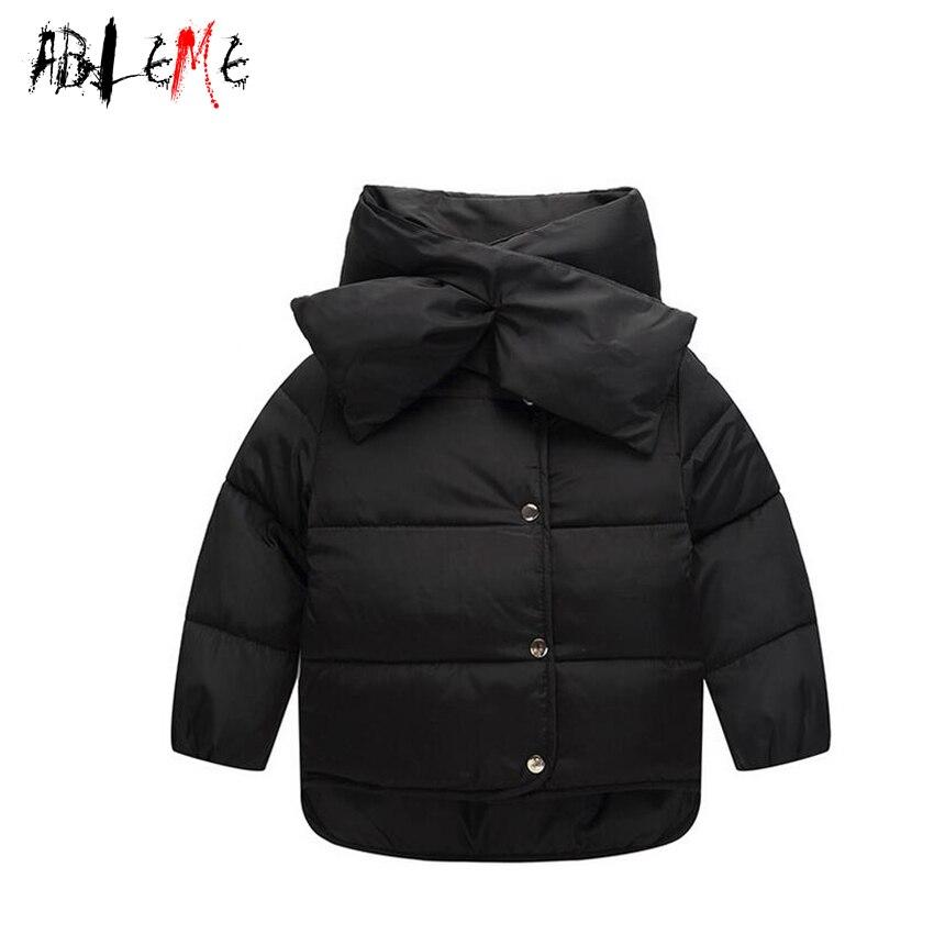 Kış Ceket Kız Için Çıkarılabilir Eşarp Yaka Çocuk Aşağı Ceket Şeker Renk Rüzgar Geçirmez Bebek Parkas Çocuk Giysileri Roupas Infantis